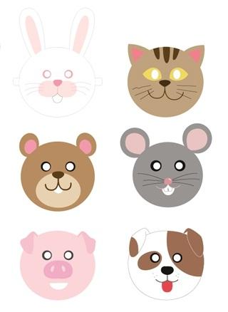 01. Детские маски животных
