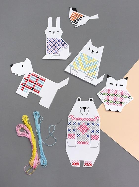Первые вышивки для детей