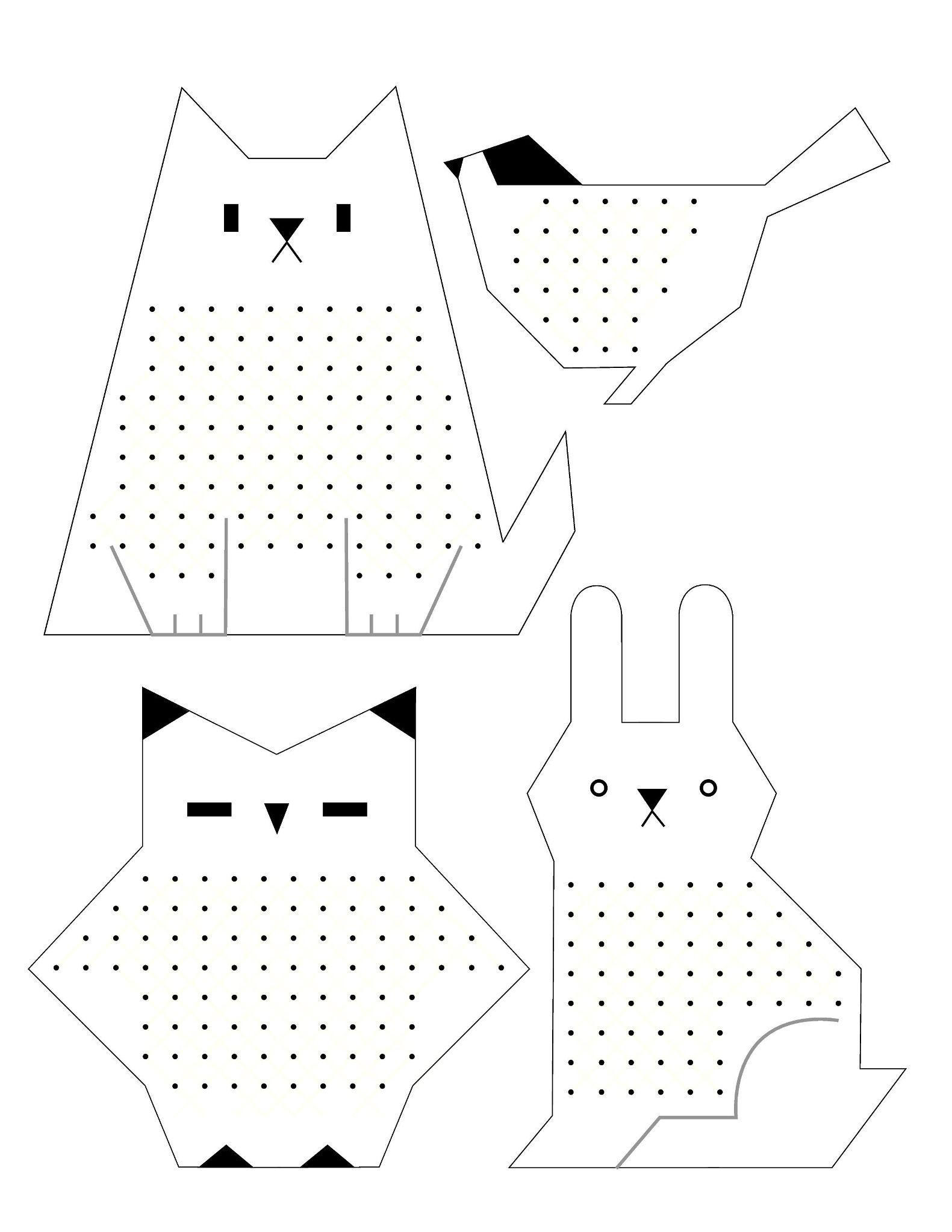 Вышивка для детей на бумаге