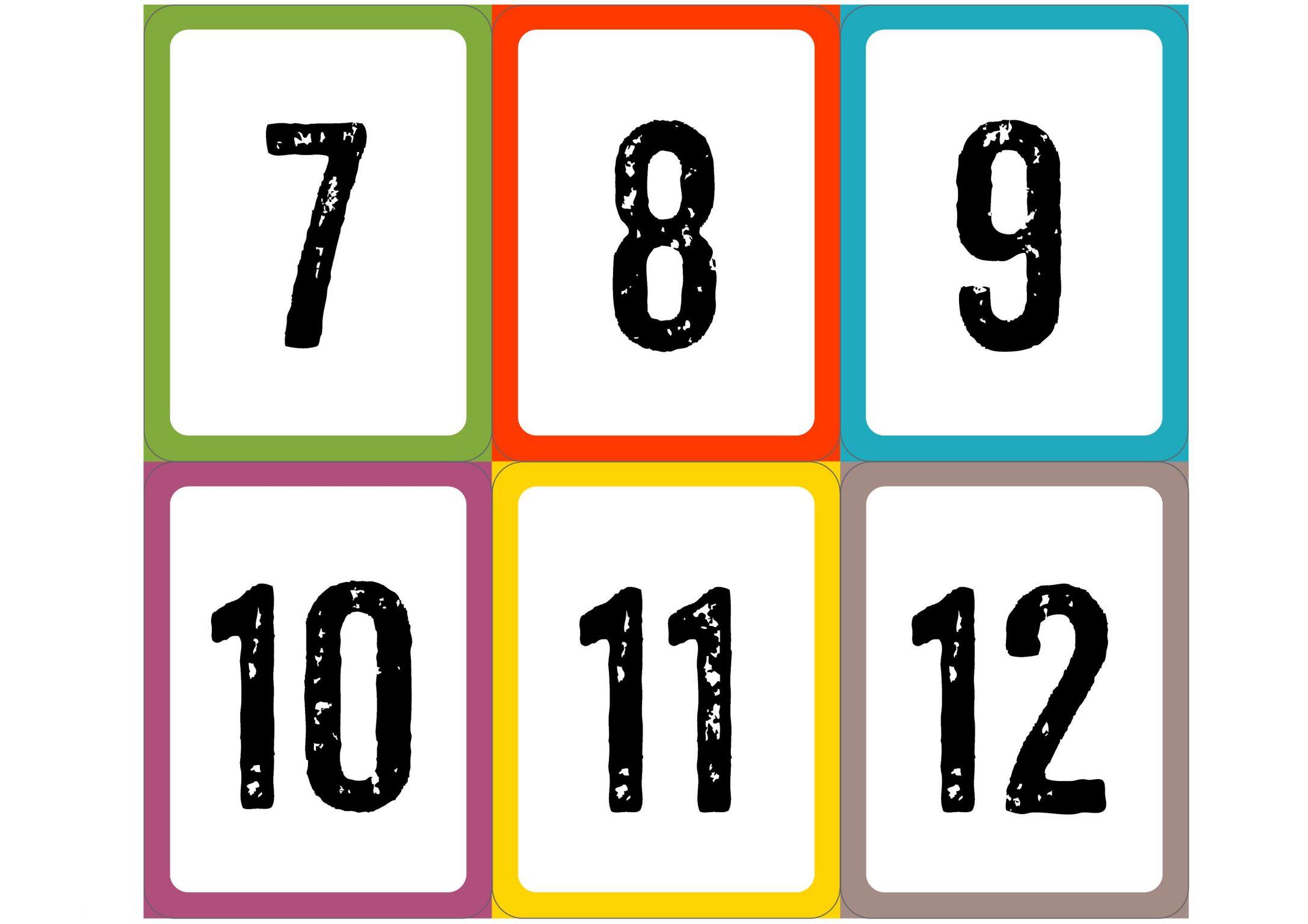 Цифры от 1 до 30 карточки распечатать красивые