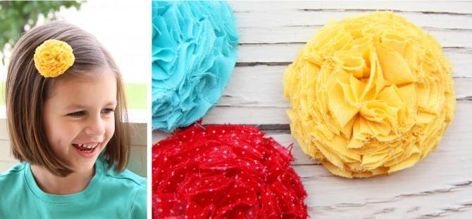 02. Как сделать цветы из ткани