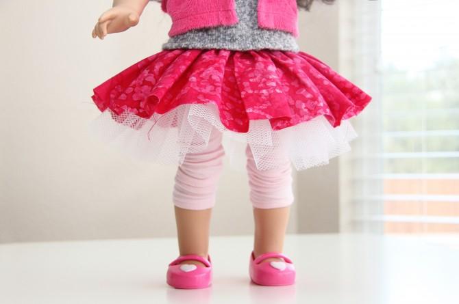 Как сшить для кукол одежду юбку