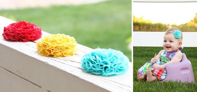 04. Как сделать цветы из ткани