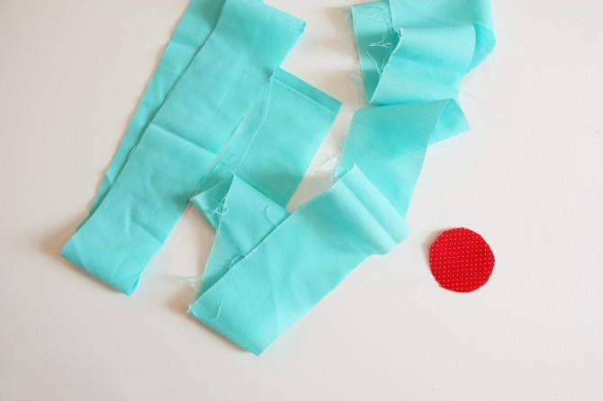 07. Как сделать цветы из ткани