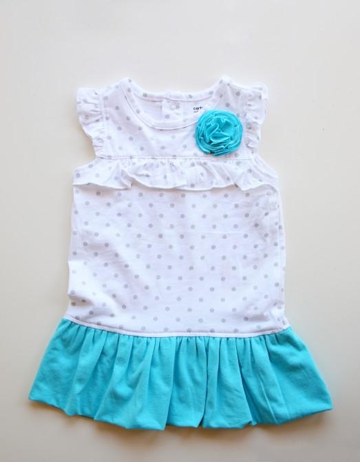 Как сделать цветок на детское платье