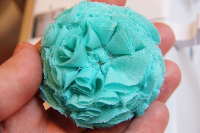 19. Как сделать цветы из ткани