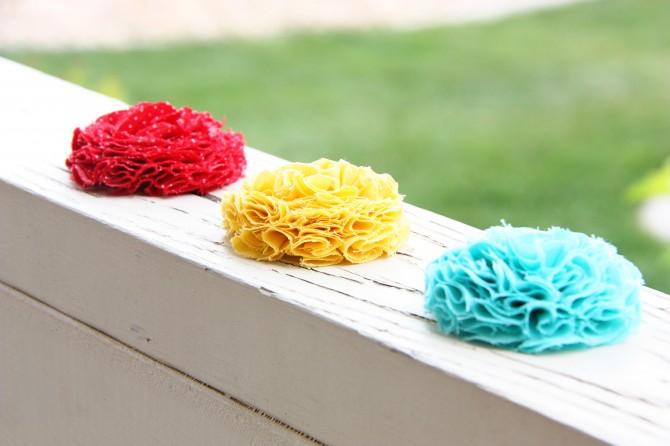 23. Как сделать цветы из ткани
