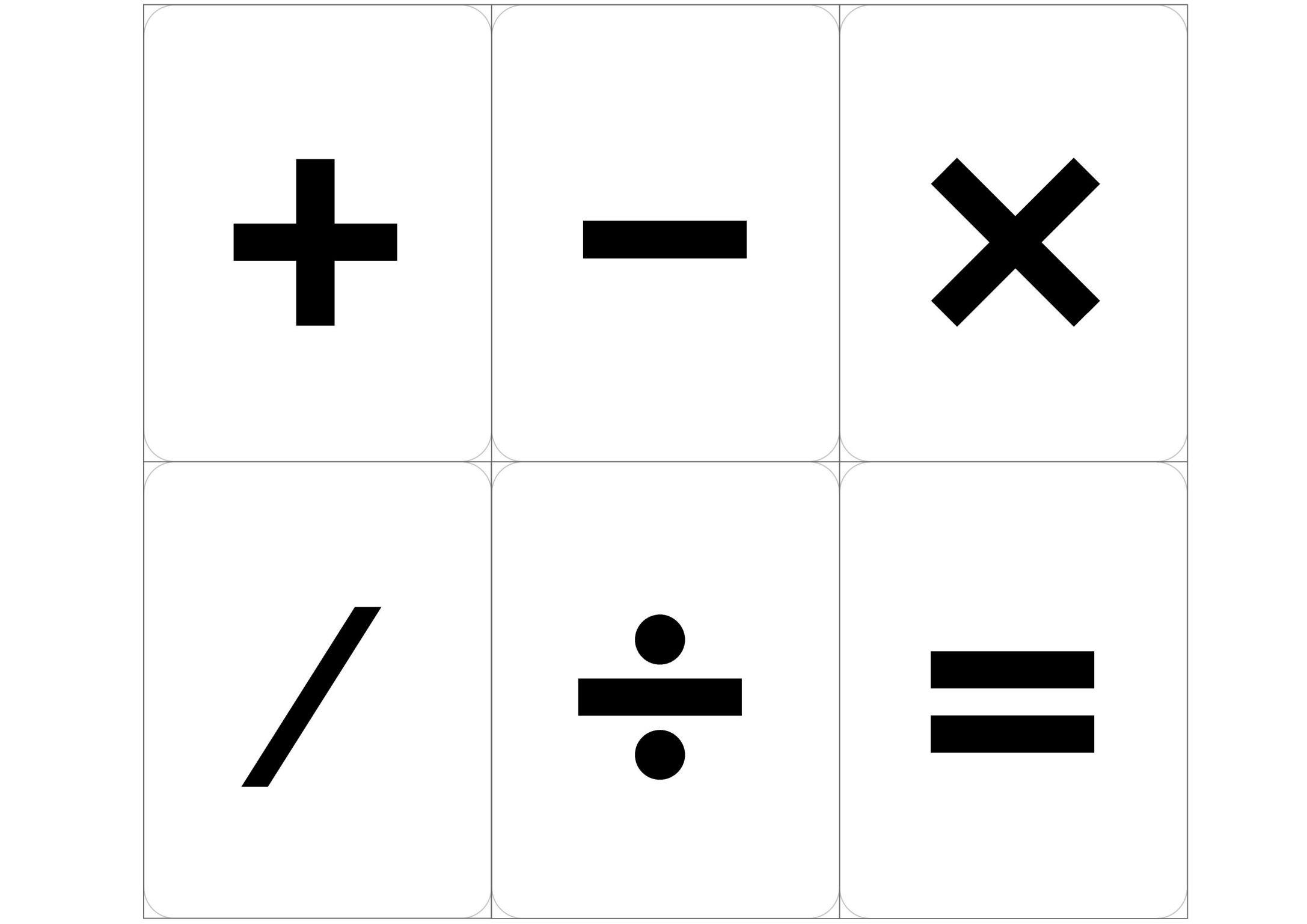 Все математические знаки и символы картинки для детей
