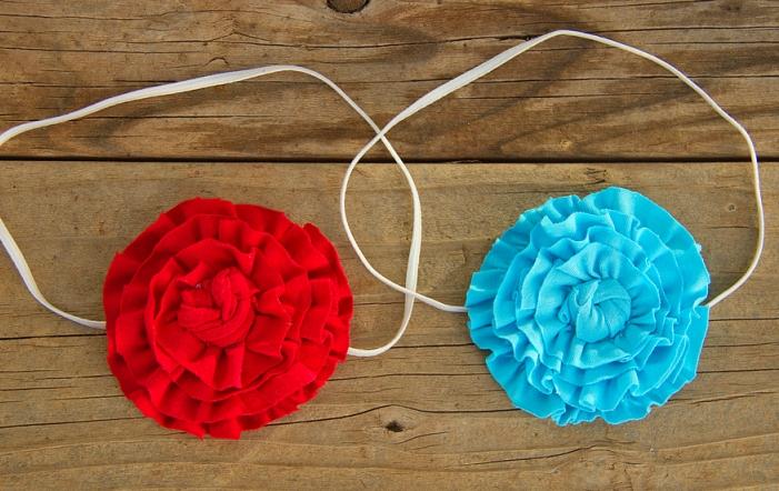 03. Как сделать цветы из ткани за несколько минут