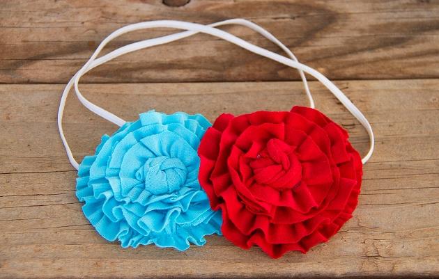07. Как сделать цветы из ткани за несколько минут