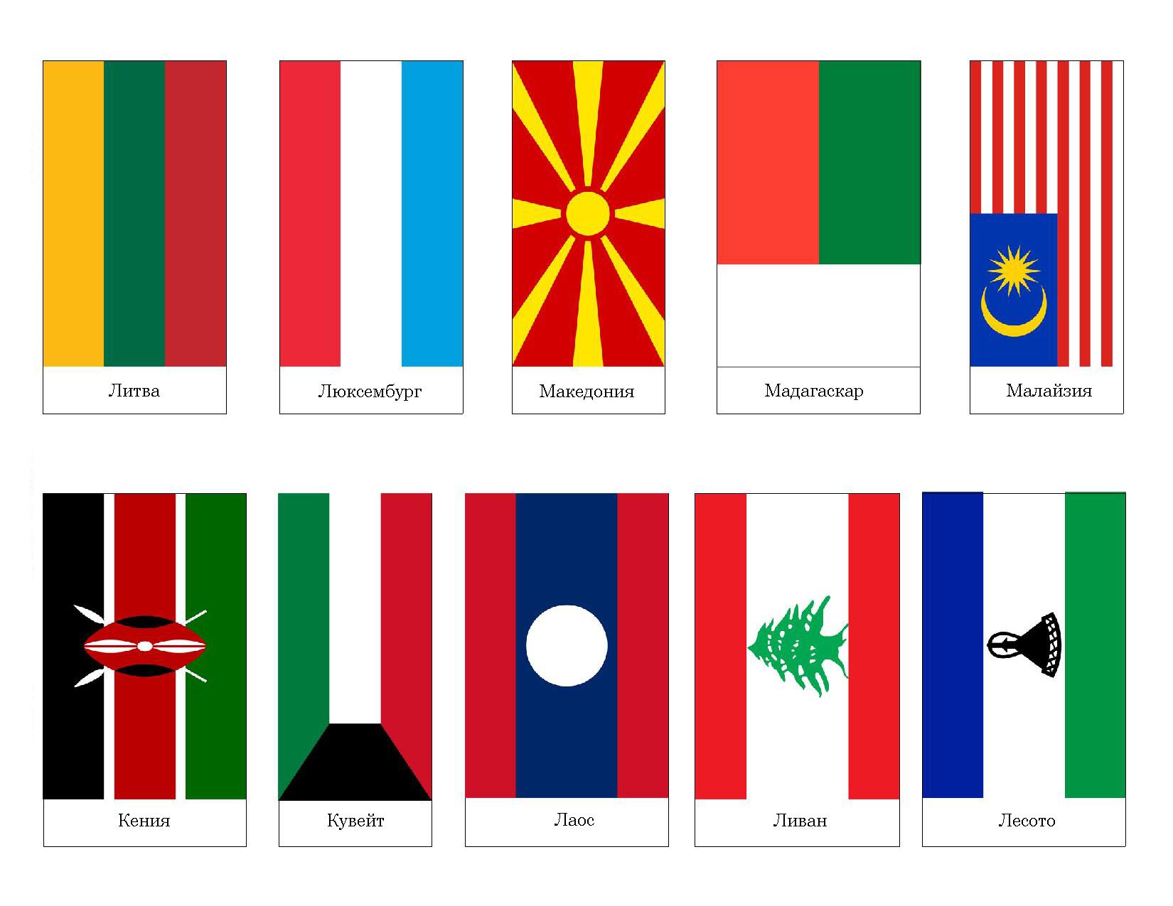 флаги современных стран фото с названиями глины