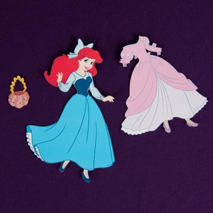 01. Бумажные куклы для вырезания с одеждой Принцессы Диснея