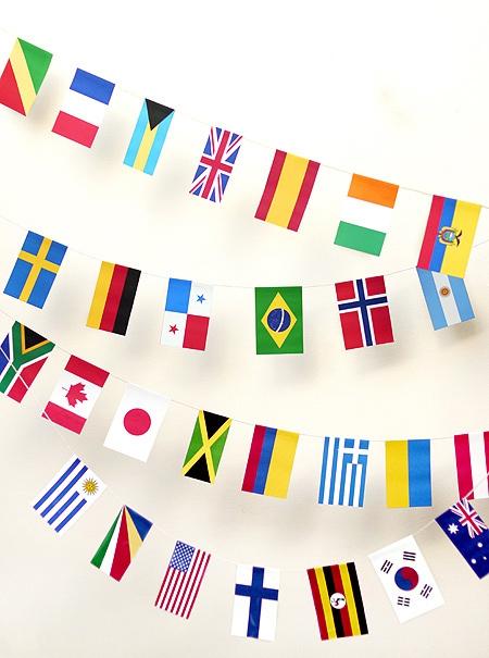 01. Флаги с названиями стран