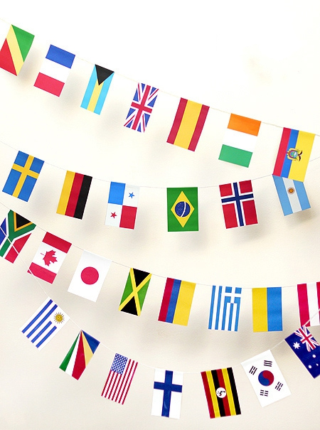 Флаги с названиями стран для детей