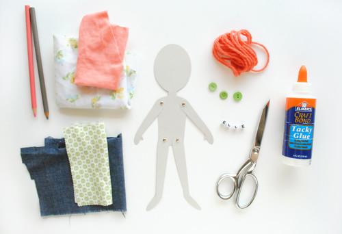 01. Как сделать куклу из бумаги на шарнирах