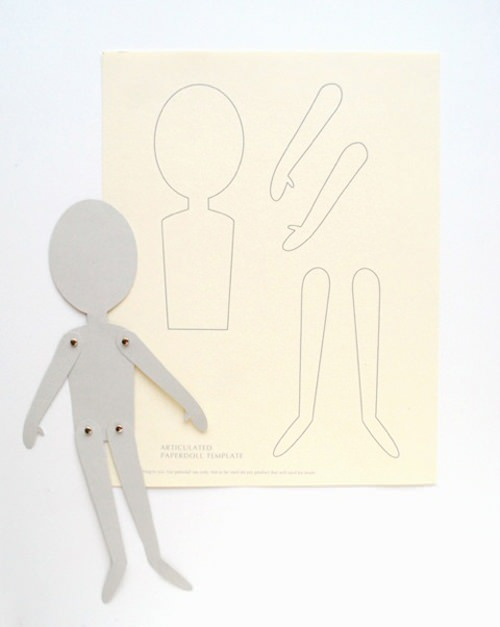 03. Как сделать куклу из бумаги на шарнирах