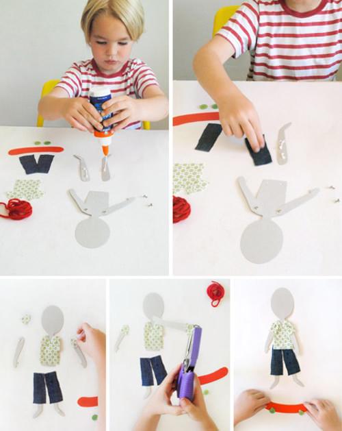 04. Как сделать куклу из бумаги на шарнирах