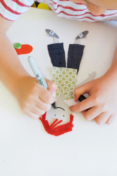 05. Как сделать куклу из бумаги на шарнирах