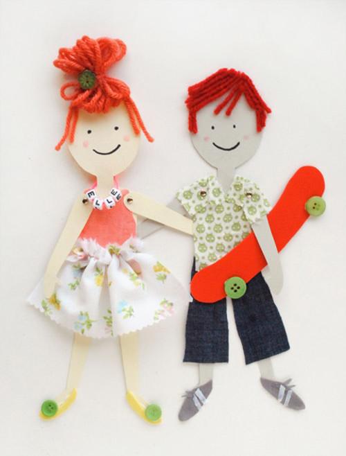 06. Как сделать куклу из бумаги на шарнирах
