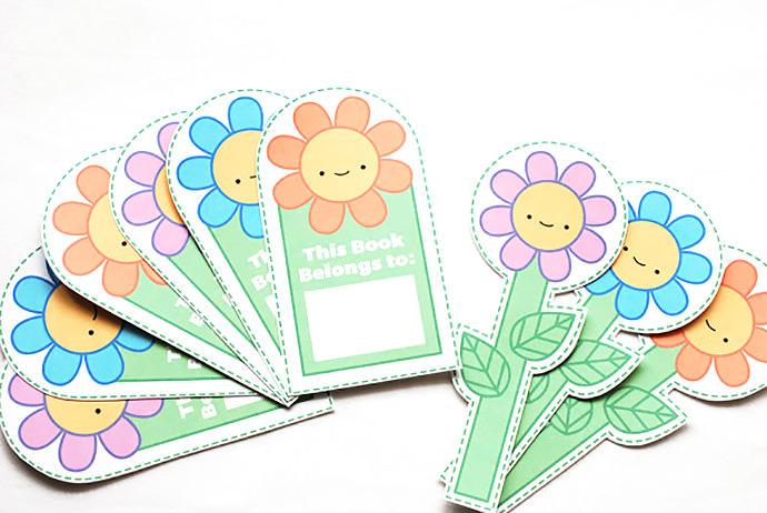 09. Цветочные закладки своими руками из бумаги