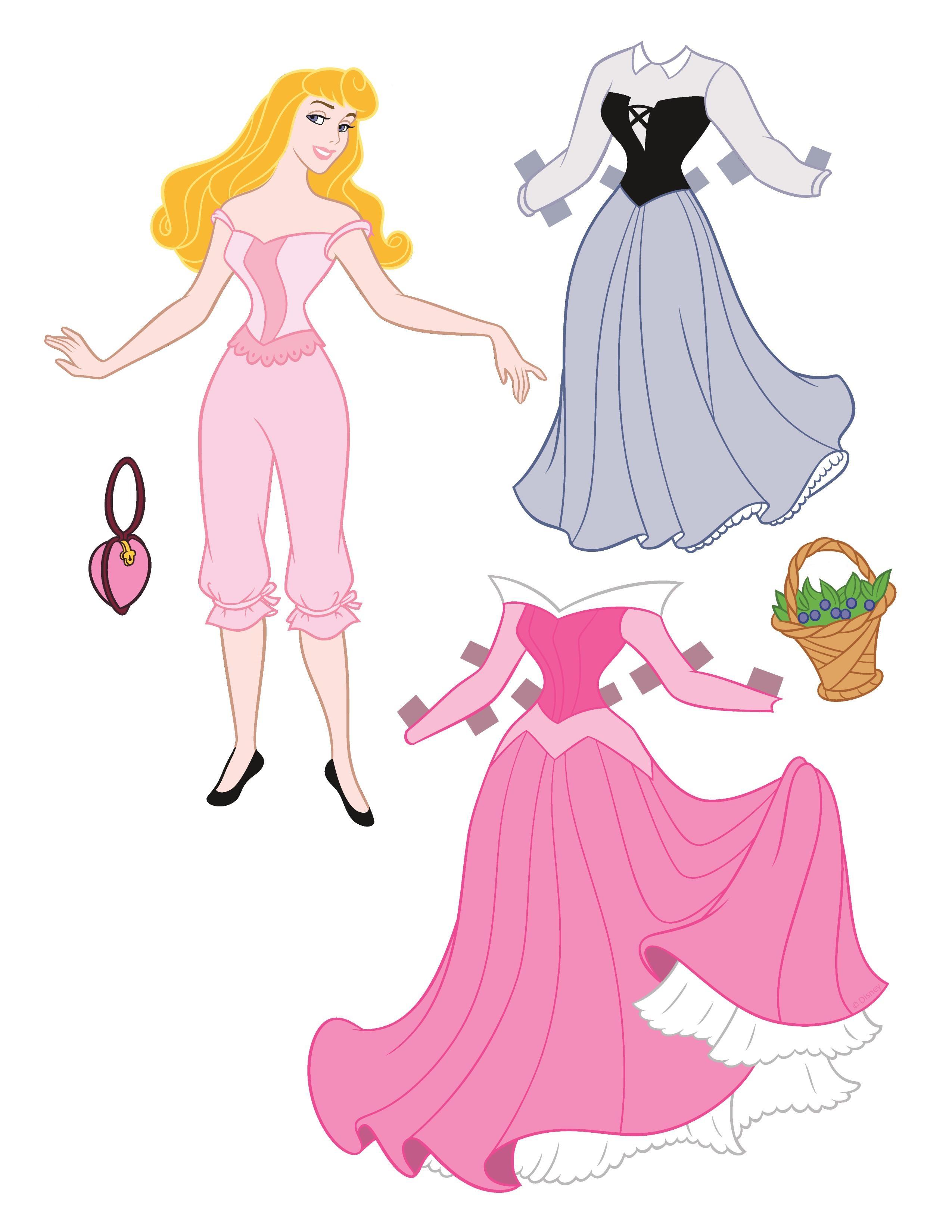 Как сделать принцессу из бумаги своими руками видео