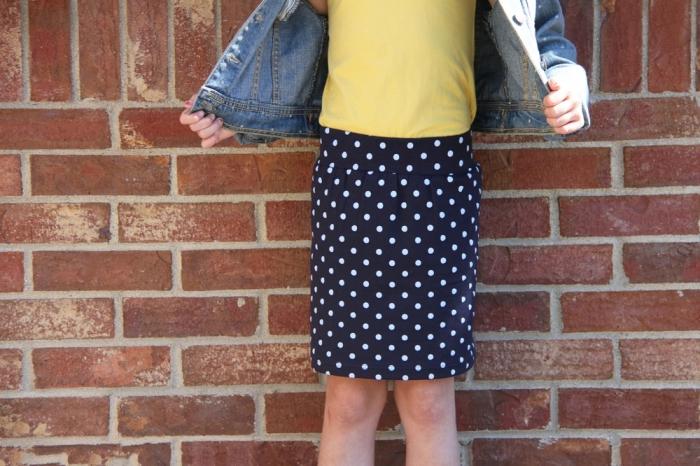 03. Как сшить прямую юбку для девочки трикотаж
