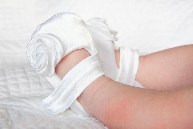 04. Крестильный набор - как сделать из ткани цветы