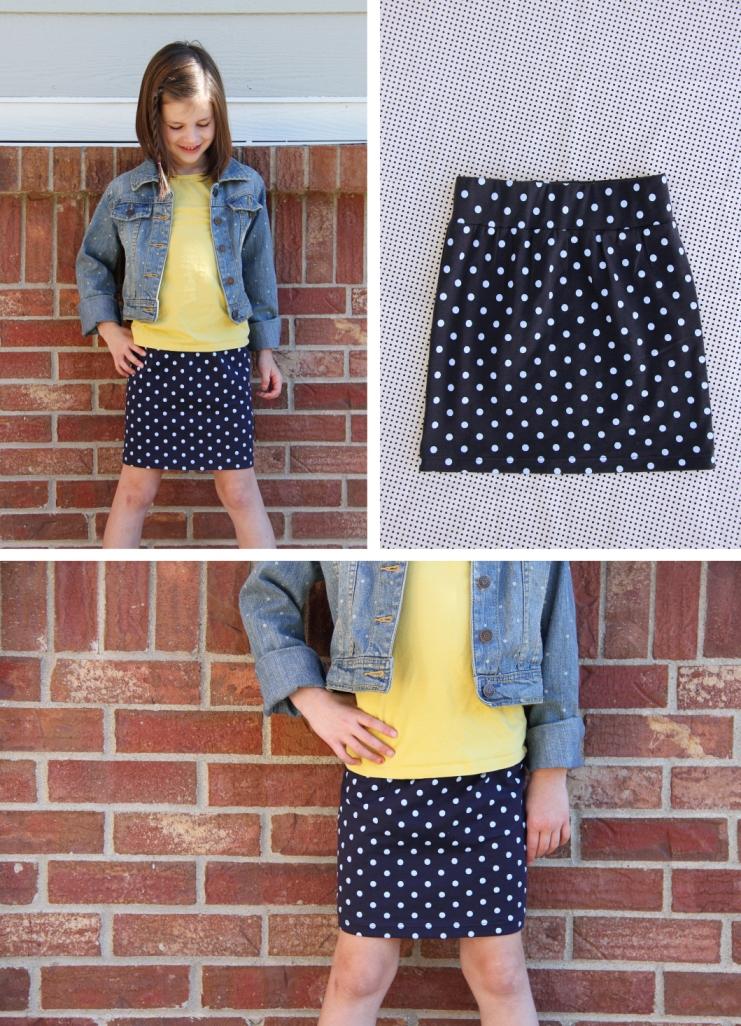 Как скроить юбку из трикотажа