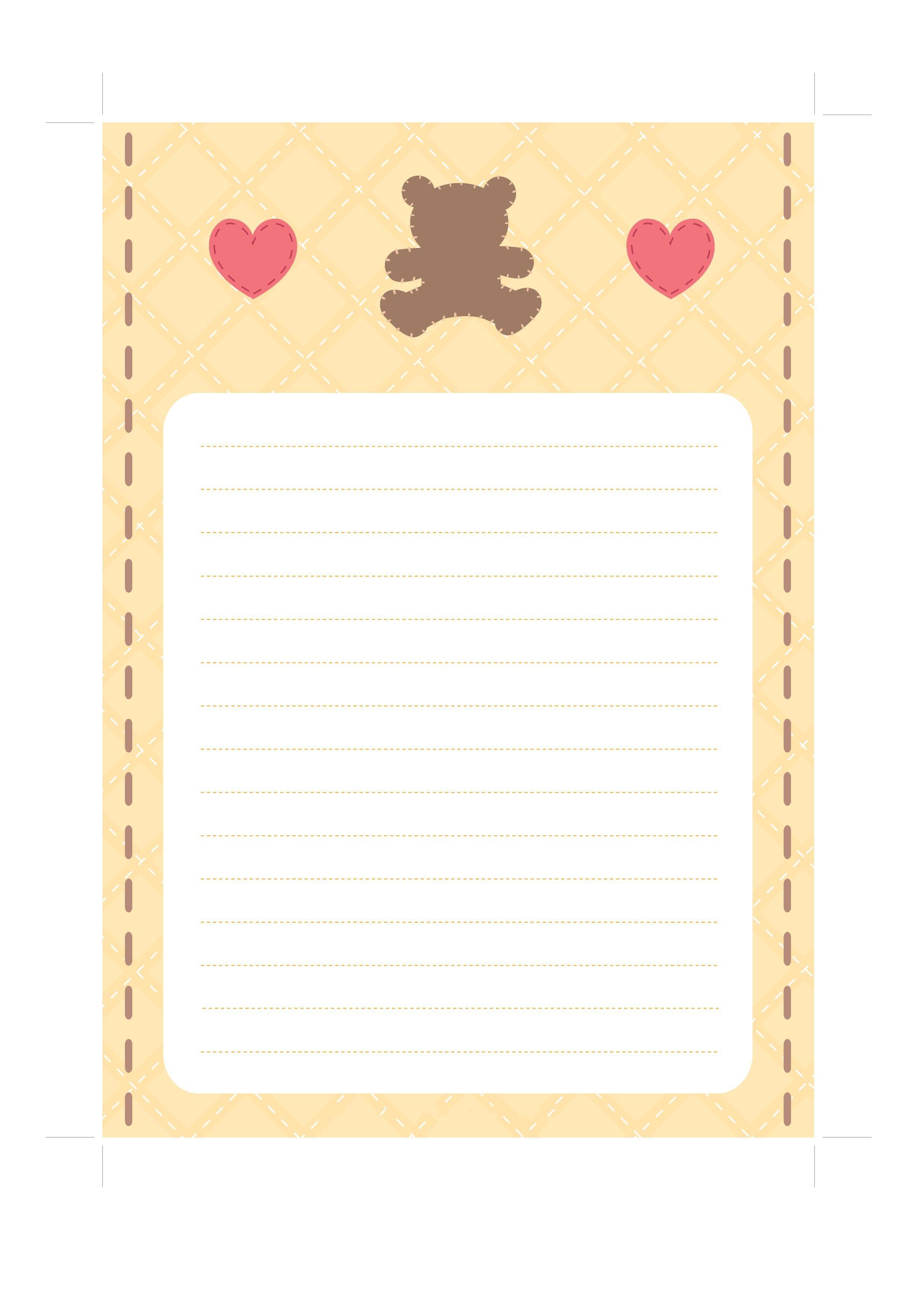 Оформление бумаги для письма своими руками 2