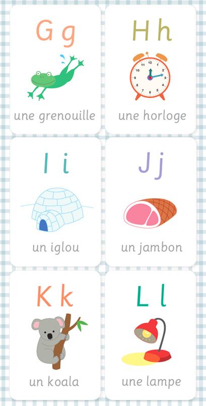 02. Картинки французский алфавит