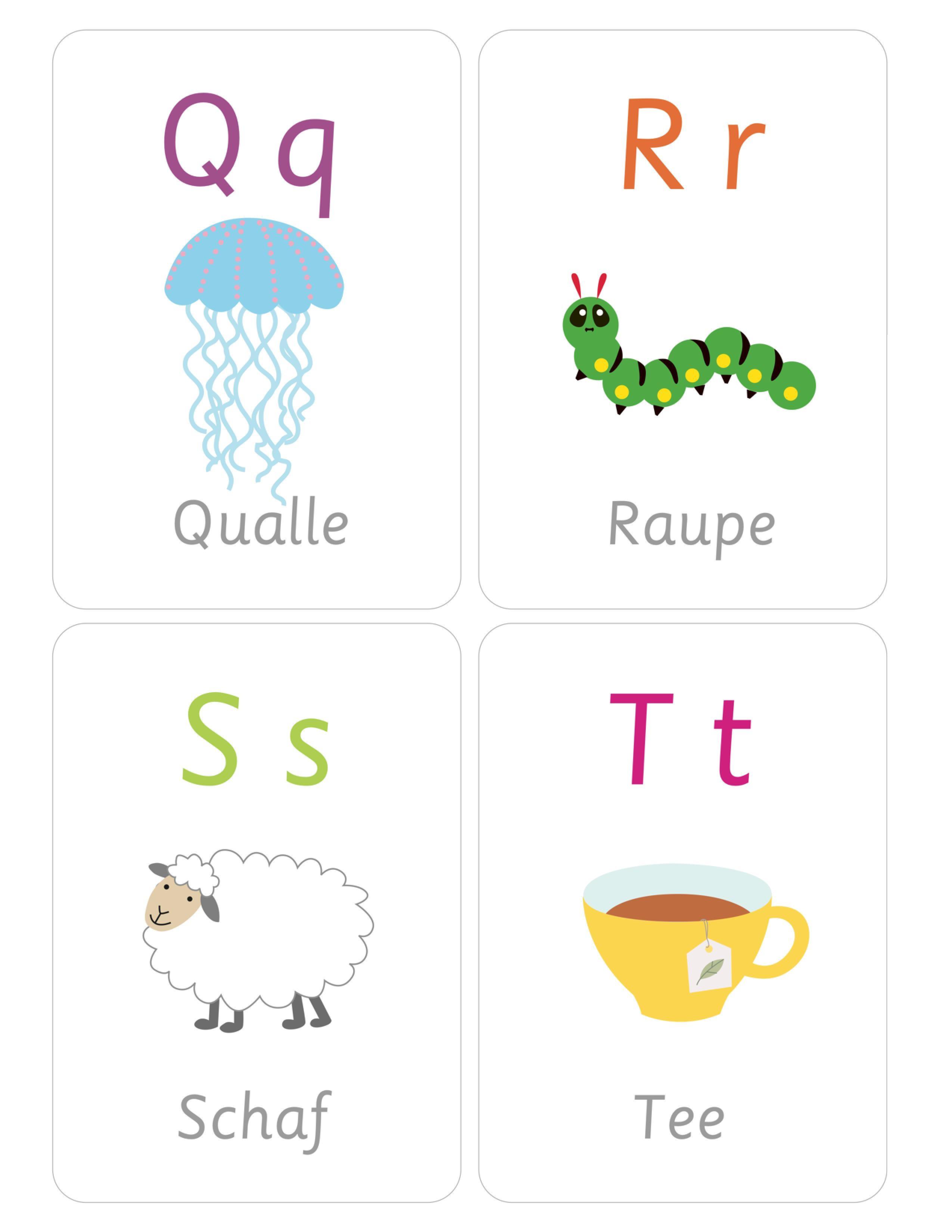 Немецкий алфавит с картинками для малышей