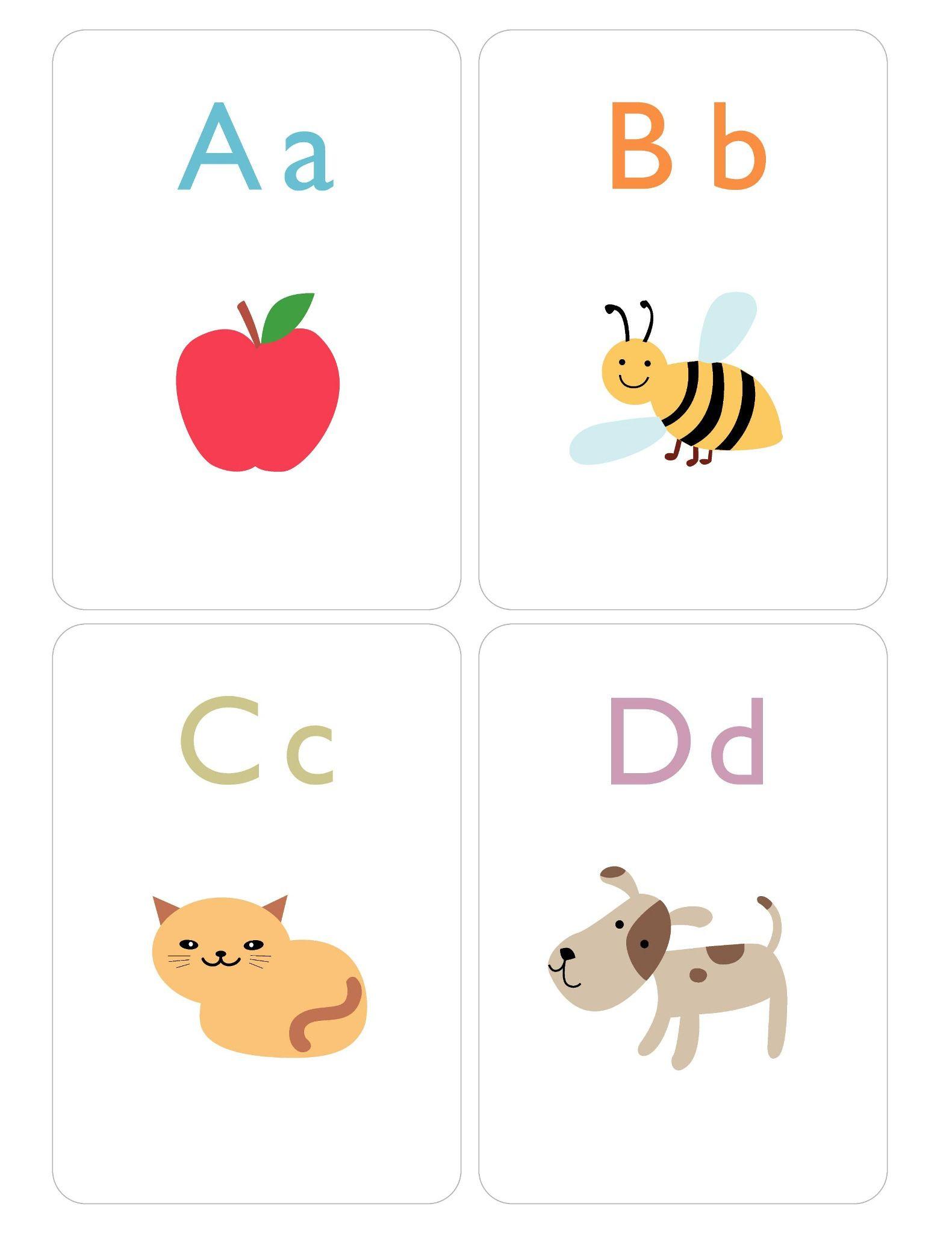 Английский алфавит для детей карточки с картинками