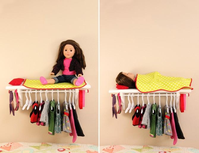 Плечики для куклы своими руками
