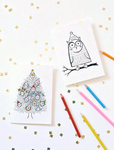 Шаблоны для новогодних открыток своими руками