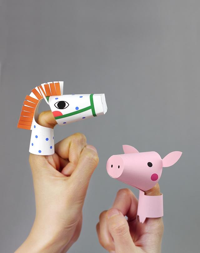 01. Пальчиковые игрушки животные