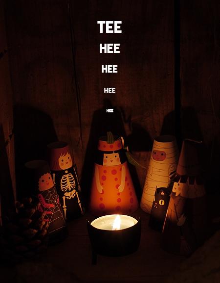 03. Объемные бумажные куклы Хэллоуин