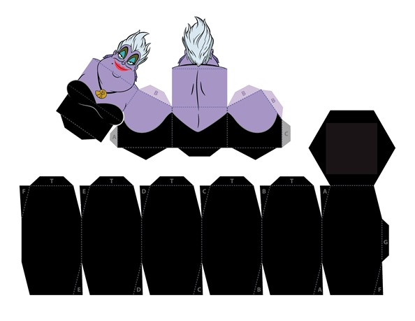 04. Объемные куклы для вырезания Мир Диснея Урсула