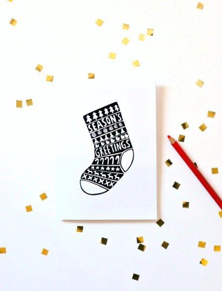 04. Новогодние открытки из бумаги своими руками