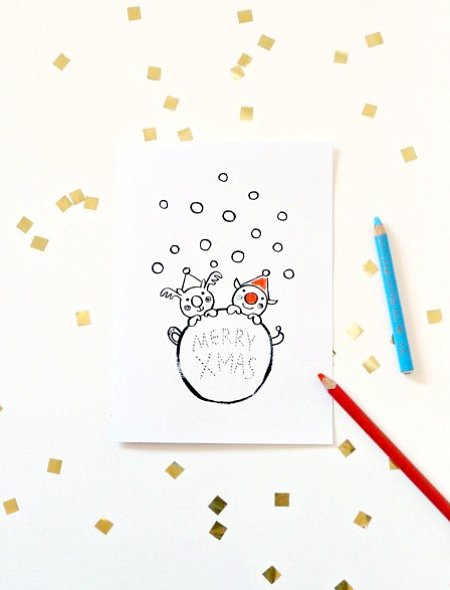05. Новогодние открытки из бумаги своими руками