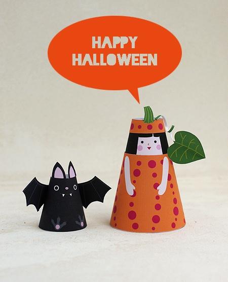 07. Объемные бумажные куклы Хэллоуин