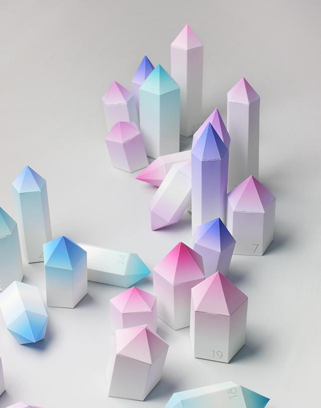 Как сделать из бумаги кристаллики 145