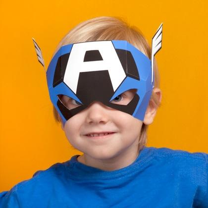 01. Капитан Америка как сделать маску из бумаги