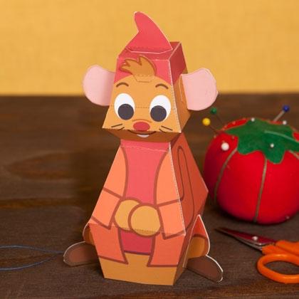 01. Мышонок Жак объемные игрушки из бумаги