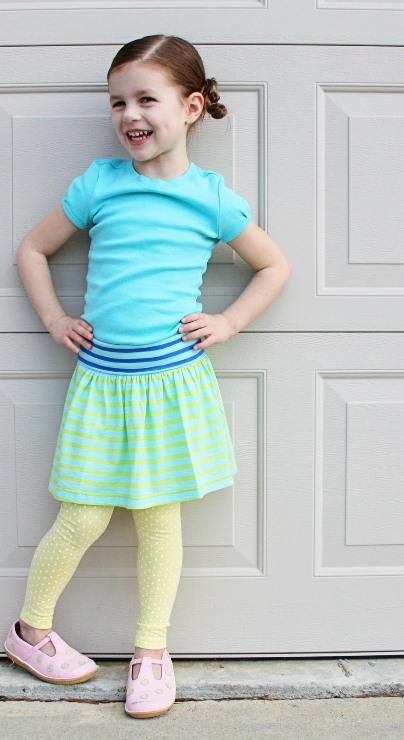 Сшить юбку своими для девочки