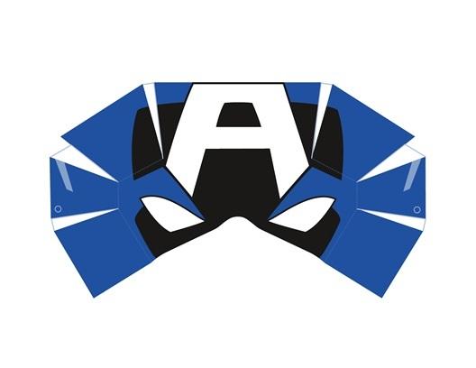 02. Капитан Америка как сделать маску из бумаги