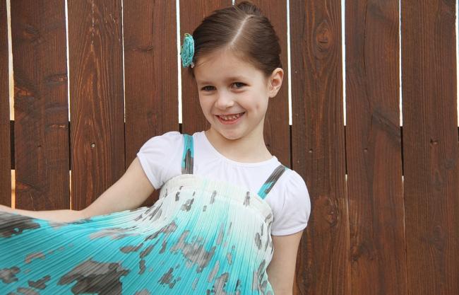 Сшить платье из юбки для девочек 22