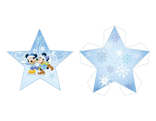 02. Микки и Минни новогодние игрушки из бумаги на елку