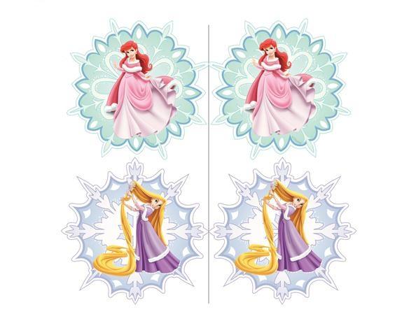 02. Принцессы Диснея новогодние игрушки из бумаги