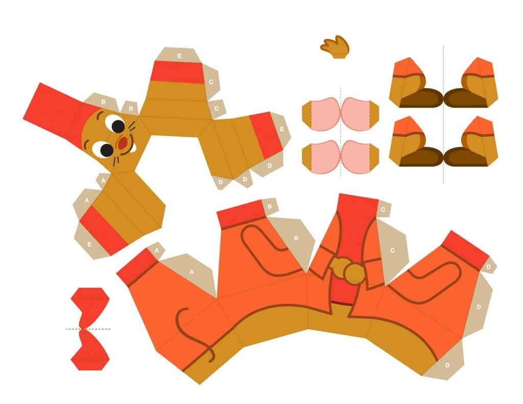 02. Мышонок Жак объемные игрушки из бумаги