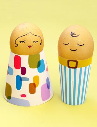 02. Человечки из яиц пасхальные поделки своими руками